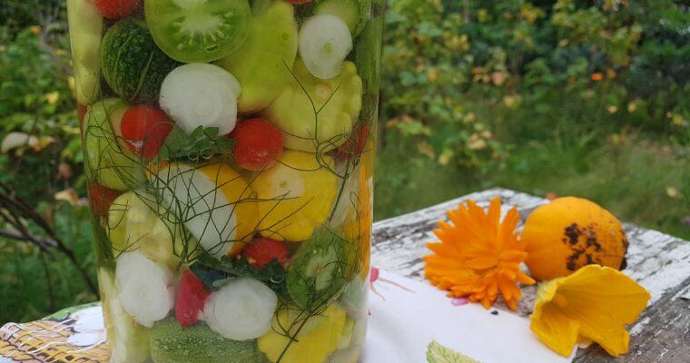 Fermenteret skrabsammen fra haven